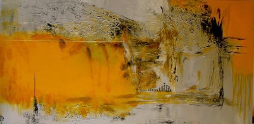 Bibi J, die Zeit ist gelb, Abstraktes, Gegenwartskunst, Expressionismus