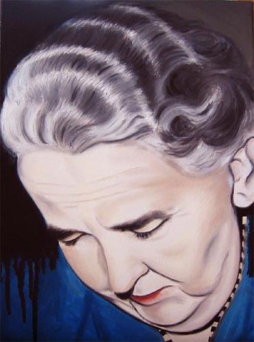 Thomas Kobusch, Es ist genug, Menschen: Frau, Menschen: Porträt, Neue Sachlichkeit, Abstrakter Expressionismus