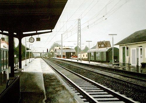 Thomas Kobusch, Köblitzsch, Verkehr: Bahn, Realismus, Abstrakter Expressionismus