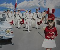 Thomas-Kobusch-Menschen-Gruppe-Verkehr-Auto-Moderne-Fotorealismus