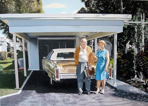 Thomas Kobusch, Proud, Menschen: Paare, Wohnen: Garten, Fotorealismus, Expressionismus