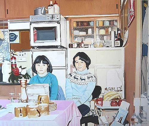Thomas Kobusch, Kyoto coffee break, Menschen: Frau, Gesellschaft, Realismus, Abstrakter Expressionismus