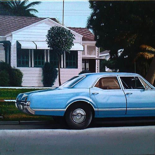 Thomas Kobusch, Hanover lane, Bauten: Haus, Verkehr: Auto, Realismus, Expressionismus