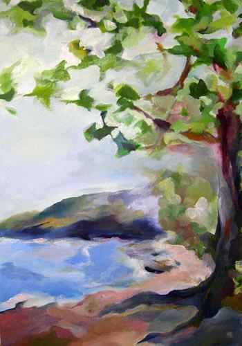 Nicole Mühlethaler, Fernweh (travel desire), Landschaft: See/Meer, Diverse Landschaften