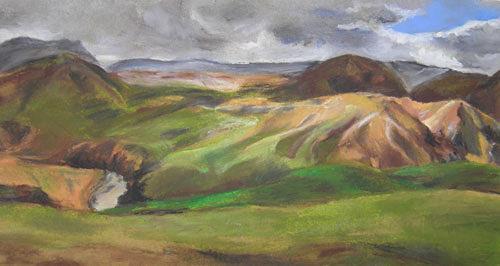 Nicole Mühlethaler, O/T, Landschaft: Hügel, Diverse Landschaften