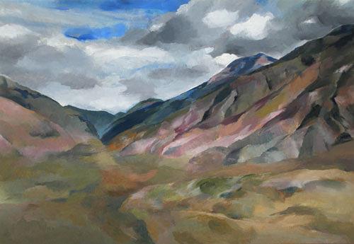 Nicole Mühlethaler, O/T, Landschaft: Berge, Diverse Landschaften