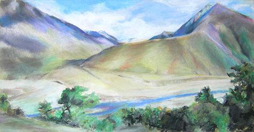 Nicole Mühlethaler, Tibet, Natur: Diverse, Landschaft: Berge