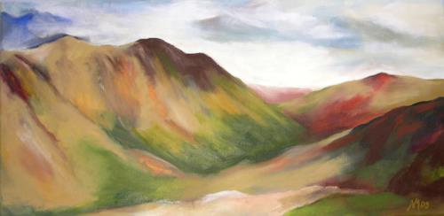 Nicole Mühlethaler, sap green, Landschaft: Berge, Natur: Diverse