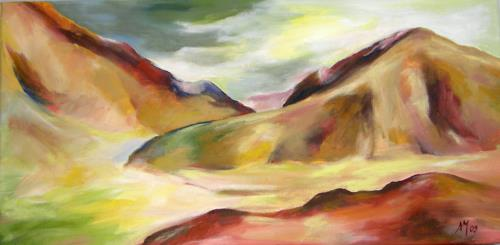 Nicole Mühlethaler, alizarin crimson, Diverse Landschaften, Landschaft: Hügel