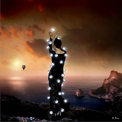 YAPIZO, Don´t let the sun go down, Fantasie, Gefühle: Trauer, Postsurrealismus, Abstrakter Expressionismus