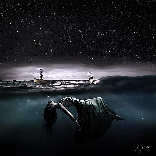 YAPIZO - Michael Maier, Cold water, Fantasie, Diverse Gefühle, Postsurrealismus, Abstrakter Expressionismus
