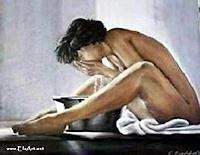 Els Eichholzer, waschende Frau