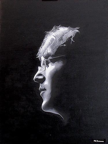 "Kenneth-Edward Swinscoe, Imagine ""John Lennon, Musik: Musiker, Menschen: Porträt, Realismus, Expressionismus"