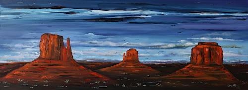 Ulf Göbel, Red Man, Landschaft: Berge, Natur: Diverse, Gegenwartskunst