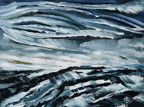 Ulf Göbel, Elemente, Abstraktes, Natur: Wasser, Gegenwartskunst