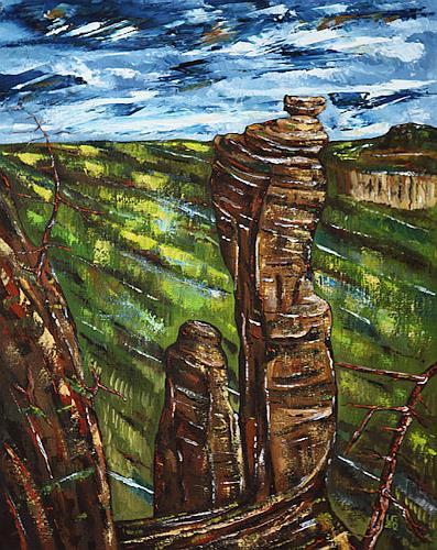 Ulf Göbel, Tief, Landschaft: Berge, Natur: Diverse, Neo-Impressionismus