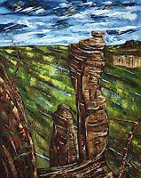 Ulf-Goebel-Landschaft-Berge-Natur-Diverse-Moderne-Impressionismus-Neo-Impressionismus
