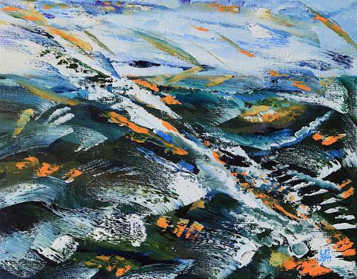 Ulf Göbel, 10 Tage am Meer, Landschaft: See/Meer, Neo-Impressionismus