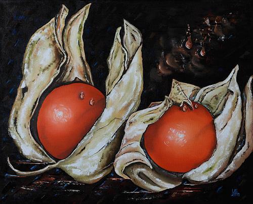 Ulf Göbel, Obhut, Stilleben, Pflanzen: Früchte, Gegenwartskunst, Expressionismus