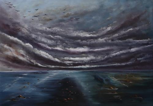 Ulf Göbel, Nach Süden IV, Landschaft: See/Meer, Natur: Diverse, Gegenwartskunst, Abstrakter Expressionismus