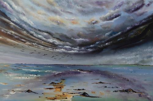 Ulf Göbel, Süden,nach Süden!, Landschaft: See/Meer, Natur: Wasser, Gegenwartskunst, Abstrakter Expressionismus