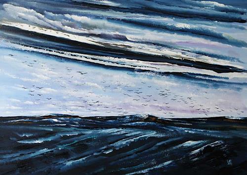 Ulf Göbel, Nach Süden V, Landschaft: See/Meer, Natur: Wasser, Gegenwartskunst