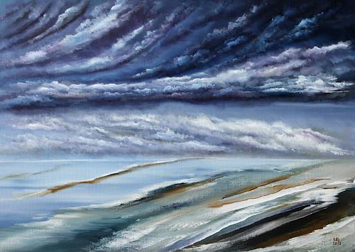 Ulf Göbel, Sehnsucht, Landschaft: See/Meer, Natur: Wasser, Gegenwartskunst, Abstrakter Expressionismus