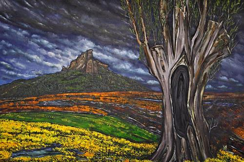 Ulf Göbel, Lebenszeit II, Landschaft: Berge, Diverse Landschaften, Neo-Impressionismus, Abstrakter Expressionismus
