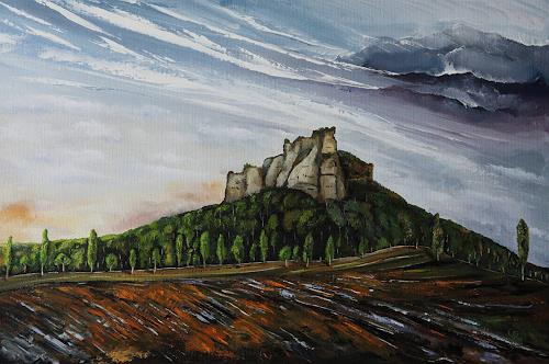 Ulf Göbel, Wetterkapriolen, Landschaft: Berge, Natur: Diverse, Gegenwartskunst