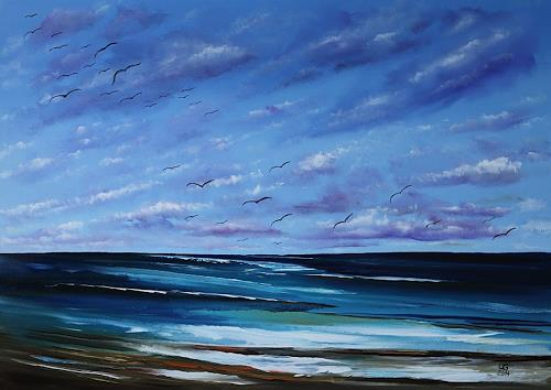 Ulf Göbel, Nach Süden XVII, Landschaft: See/Meer, Natur: Diverse, Gegenwartskunst