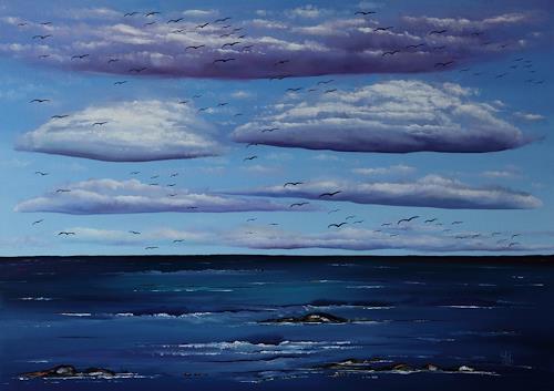 Ulf Göbel, Nach Süden XIII, Landschaft: See/Meer, Natur: Diverse, Gegenwartskunst