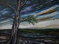 Ulf-Goebel-Landschaft-Huegel-Pflanzen-Baeume-Moderne-Impressionismus-Neo-Impressionismus