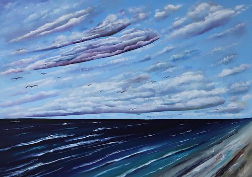 Ulf Göbel, Nach Süden XVI, Landschaft: See/Meer, Diverse Landschaften, Neo-Impressionismus