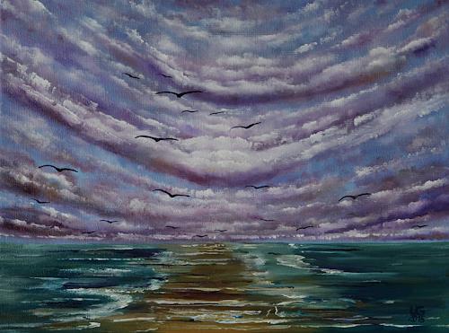 Ulf Göbel, Sehnsucht VII, Landschaft: See/Meer, Natur: Diverse, Impressionismus