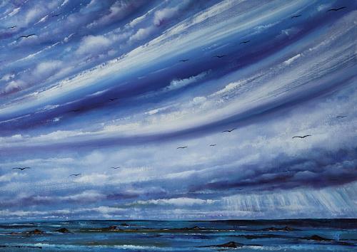Ulf Göbel, Sehnsucht XVI, Landschaft: See/Meer, Natur: Diverse, Gegenwartskunst, Abstrakter Expressionismus