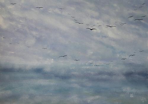 Ulf Göbel, Silence II, Landschaft: See/Meer, Natur: Diverse, Neo-Impressionismus