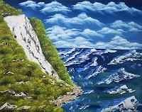 Ulf-Goebel-Landschaft-See-Meer-Natur-Gestein-Gegenwartskunst--Gegenwartskunst-