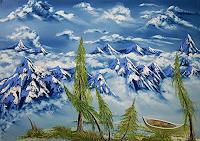 Ulf-Goebel-Landschaft-Berge-Natur-Wasser-Gegenwartskunst--Gegenwartskunst-