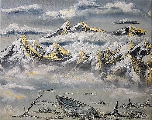 Ulf Göbel, The End, Gefühle: Depression, Landschaft: Berge, Gegenwartskunst