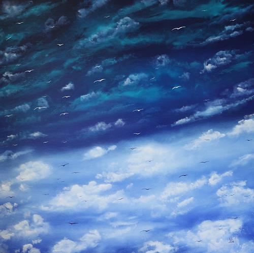 Ulf Göbel, Wolkenreise, Natur: Luft, Diverse Landschaften, Gegenwartskunst