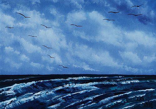 Ulf Göbel, Sehnsucht XXIX, Landschaft: See/Meer, Natur: Wasser, Impressionismus