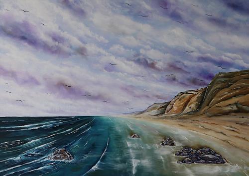 Ulf Göbel, Sehnsucht XXV, Landschaft: See/Meer, Natur: Wasser, Impressionismus, Expressionismus