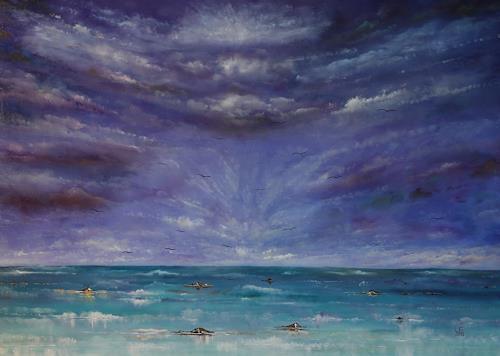 Ulf Göbel, Silles Erwachen, Landschaft: See/Meer, Natur: Luft, Gegenwartskunst