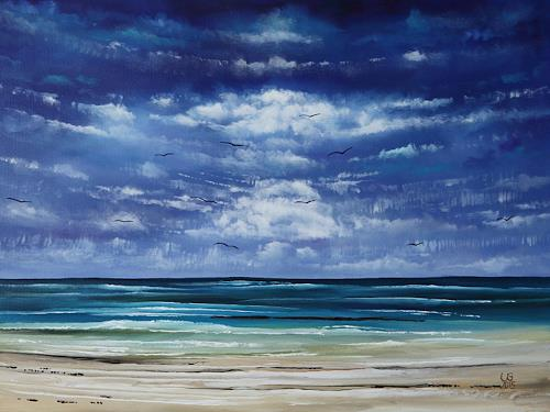 Ulf Göbel, Sehnsucht XXI, Landschaft: See/Meer, Natur: Diverse, Gegenwartskunst, Expressionismus