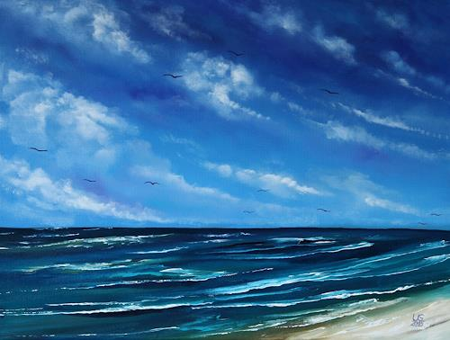 Ulf Göbel, Sehnsucht XX, Landschaft: See/Meer, Natur: Wasser, Impressionismus