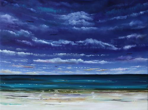 Ulf Göbel, Sehnsucht XVIII, Landschaft: See/Meer, Natur: Wasser, Gegenwartskunst, Expressionismus