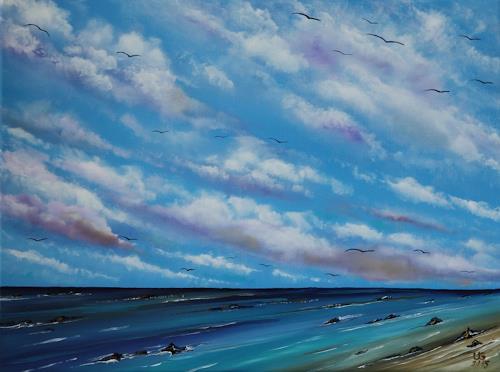 Ulf Göbel, Sehnsucht XVI, Landschaft: See/Meer, Landschaft: Strand, Gegenwartskunst