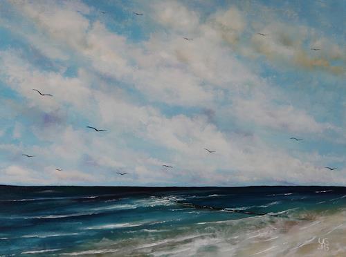 Ulf Göbel, Sehnsucht XXII, Landschaft: See/Meer, Diverse Landschaften, Gegenwartskunst