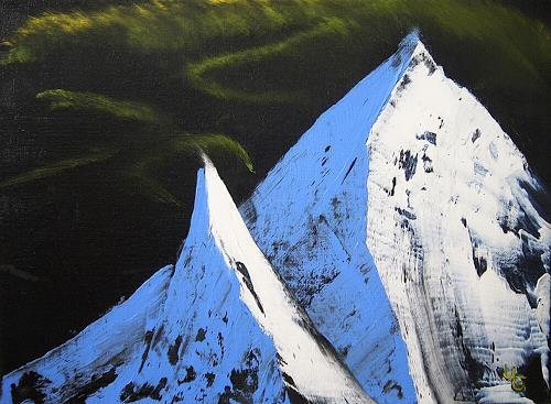 Ulf Göbel, Eiszeit 9, Landschaft: Berge, Natur: Gestein, Realismus