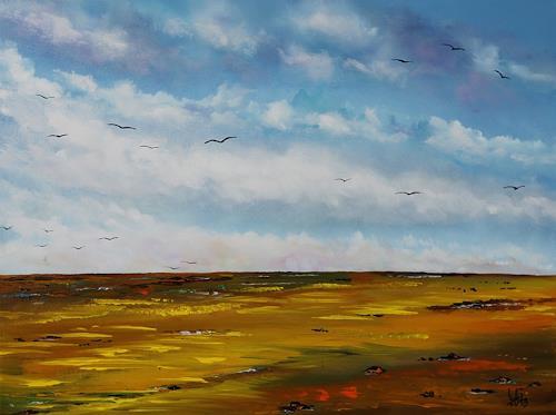 Ulf Göbel, Besinnung  IV, Landschaft: Frühling, Natur: Erde, Gegenwartskunst